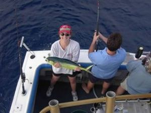 One of the fastest fishing charter boats on the water.