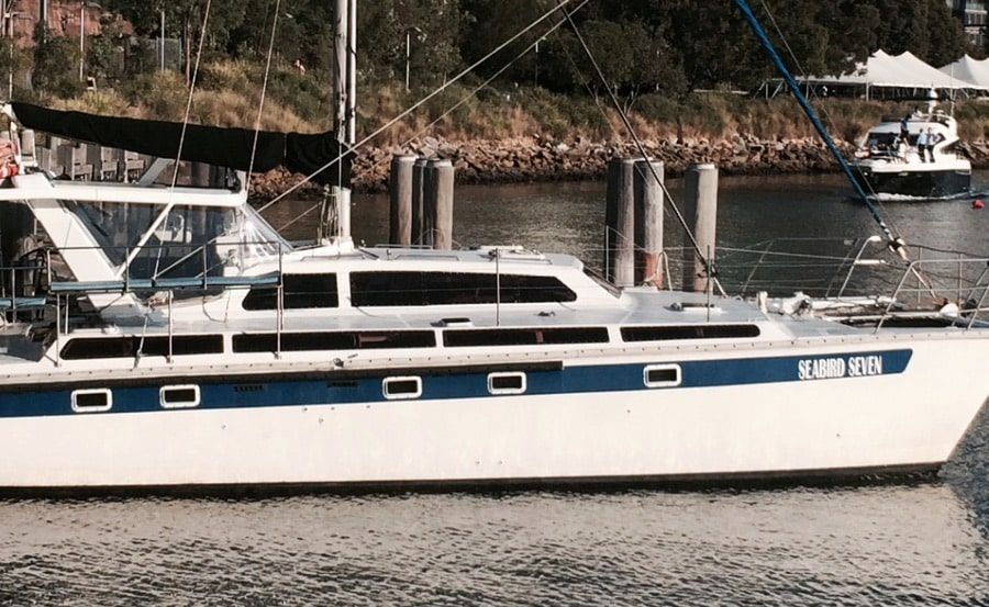 Harbour Cruises on Seabird Seven side view