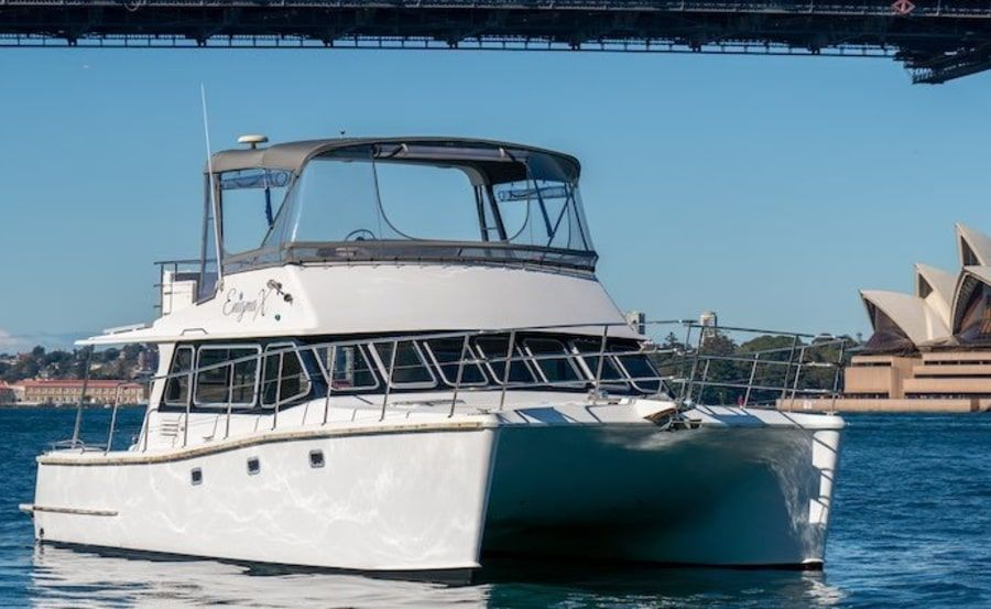 New Years Eve Cruises on Enigma X bow view