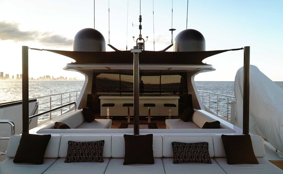 super yacht hire on Sahana