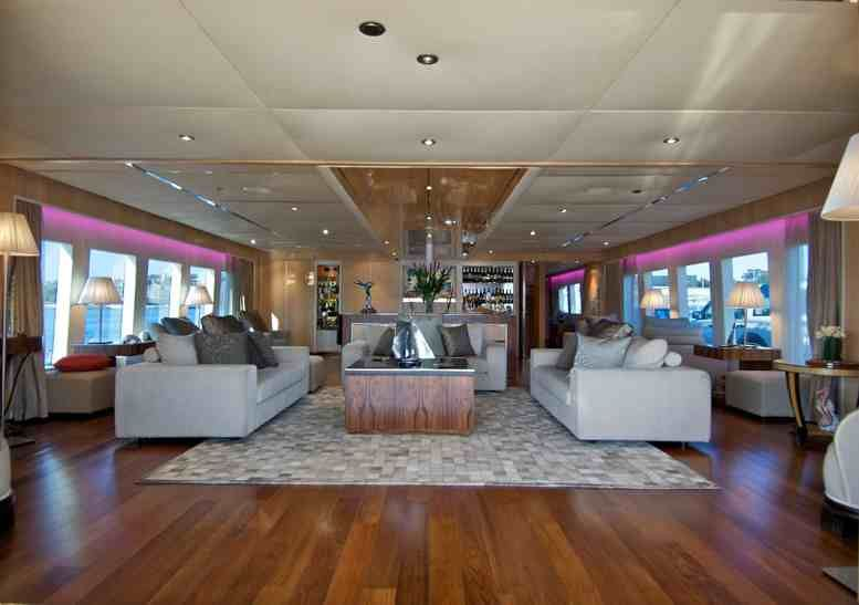 Tango super yacht hire formal lounge